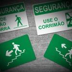 Placas de sinalização de segurança para empresas